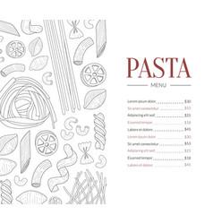 pasta menu template traditional italian cuisine vector image