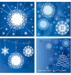 Postcards NewYear 380 vector