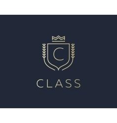 Premium monogram letter C initials ornate vector image
