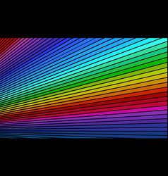 rainbow bright background vector image