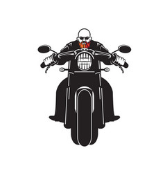 Red bearded biker vector