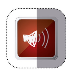Red symbol volume technology icon vector