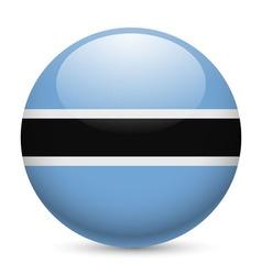 Round glossy icon of botswana vector image