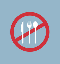 say no to plastic cutlery poster pollution vector image