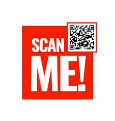 Scan me icon symbol or emblem vector