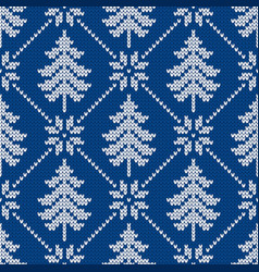 Seamless pattern with snowflakes and christmas vector