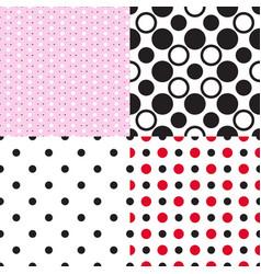 Set seamless vintage classic dotty patterns vector