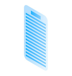 smartphone text icon isometric style vector image