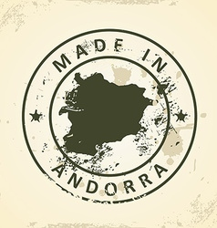 Stamp with map of Andorra vector image