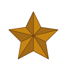 Star shape decoration vector