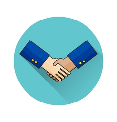Thin line design of handshake For web and mobile vector image