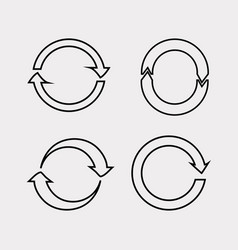 update icon in flat style refresh symbol vector image