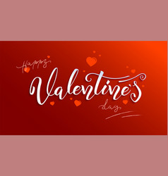 valentine day holidays lettering hand-drawn vector image