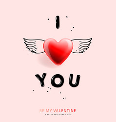 valentines day background with i love you vector image