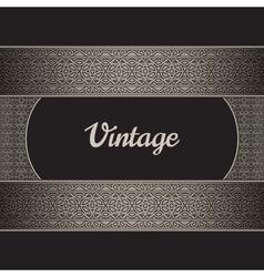 Vintage label vector
