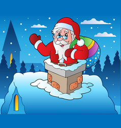 winter scene with christmas theme 4 vector image