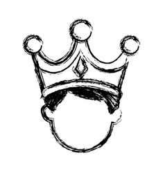 Wise king manger character catholic image vector