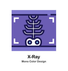 X-ray mono color icon vector