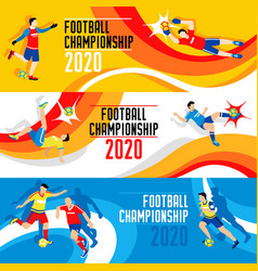 2020 world cup composition vector image vector image