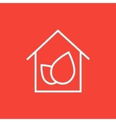Eco-friendly house line icon vector