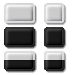sachet packaging black white vector image