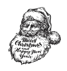 Santa Claus Merry Christmas and Happy New vector image