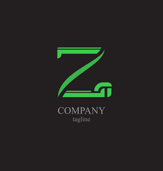 the letter z logo - a symbol of your business vector image