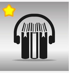 audio book black icon button logo symbol vector image vector image