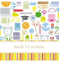 Background school icons vector image