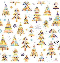 Christnas trees seamless pattern vector image vector image