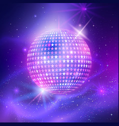 disco ball with star shapes vector image vector image