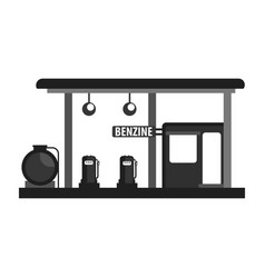 gas petroleum petrol refill station gasoline and vector image vector image