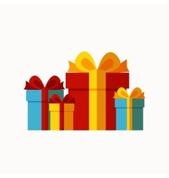 Presents background concept vector image vector image