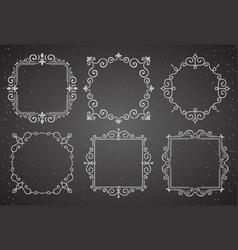set of victorian vintage decoration frames vector image vector image
