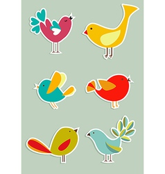 Social media birds set vector image