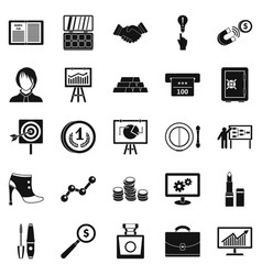 symposium icons set simple style vector image