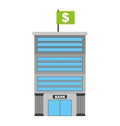 bank isolated icon design vector image