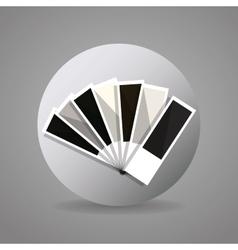 Black and gray pantone vector