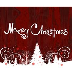 Handwriting merry christmas vector