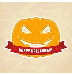 Happy Halloween label vector image