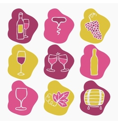 Set of wine making icons vector image vector image