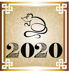 2020 chinese new year vector