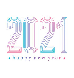2021 happy new year gradient and linear style vector