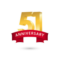 51 year anniversary template design vector image