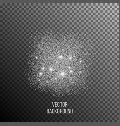 Abstract background of random falling silver dots vector