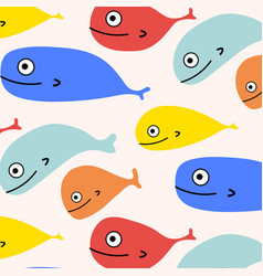 abstract colorful fish pattern background vector image
