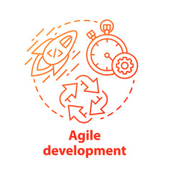 Agile development concept icon short term vector