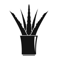 aloe in pot icon simple style vector image