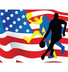 American sportsmen background vector