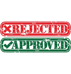 Approved and rejected stamp vector